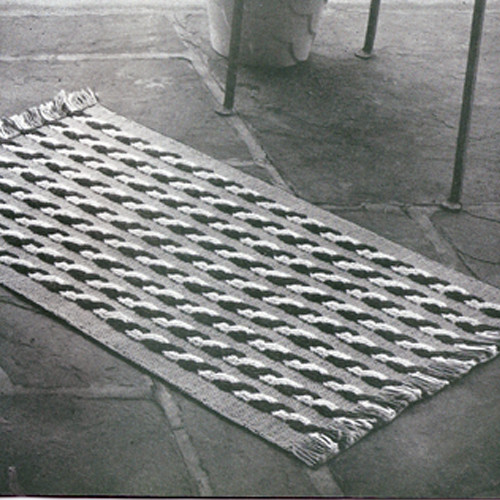 Cabled Stripe Rug Crochet pattern