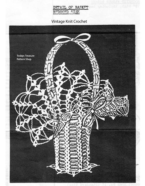 Vintage Crochet Basket Pattern, Handle, Anne Cabot 5171