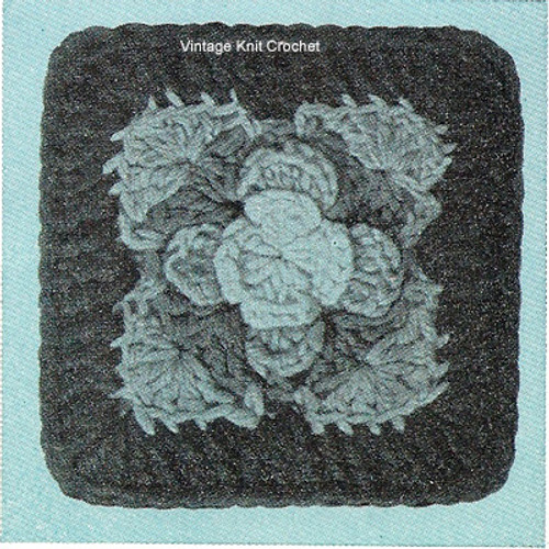 Rose Square Crochet Pattern illustration