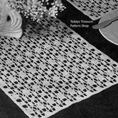 Crocheted Runner Pattern No 7260, Americana