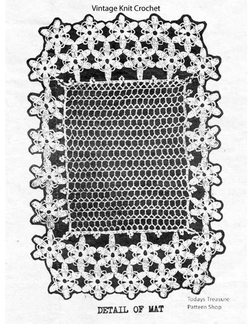 Small Crochet Mat Pattern, Daisy