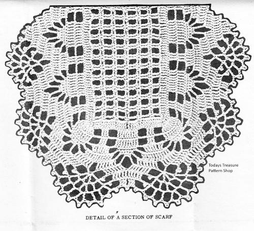 Pineapple Runner Crochet Pattern Illustration for Design 874