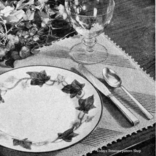Easy Vintage lace Mats Crochet Pattern