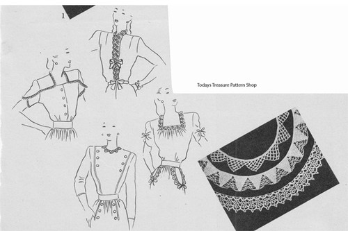 Crocheted Edgings for Clothing pattern