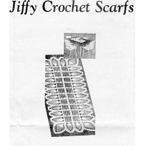 Mail Order 778, Crochet Jiffy Scarf Pattern