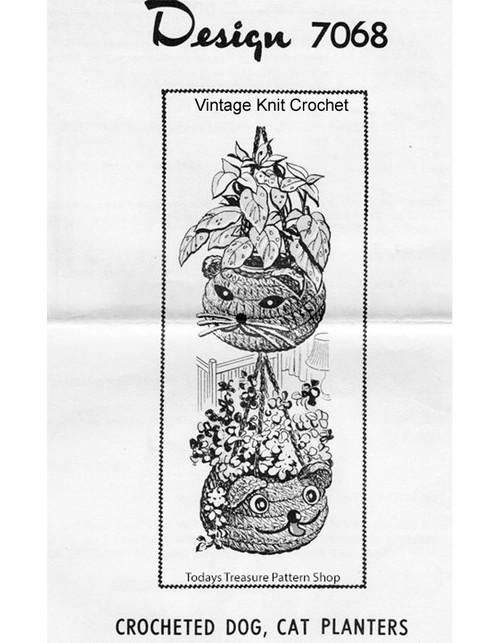 Crochet Hanging Planter Baskets Pattern, Alice Brooks 7068