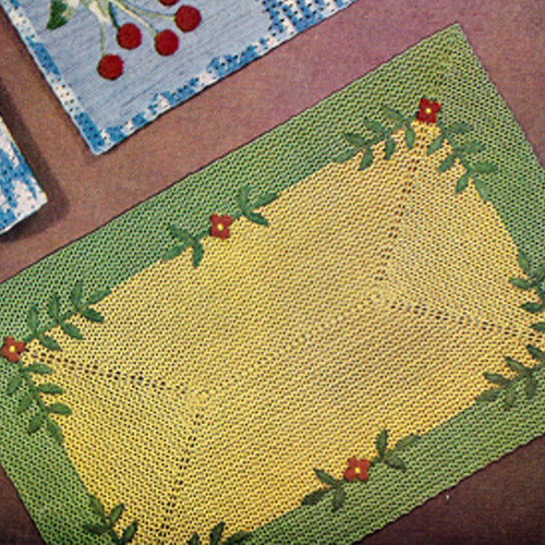 Vintage Garden Party Crochet Place Mat Pattern