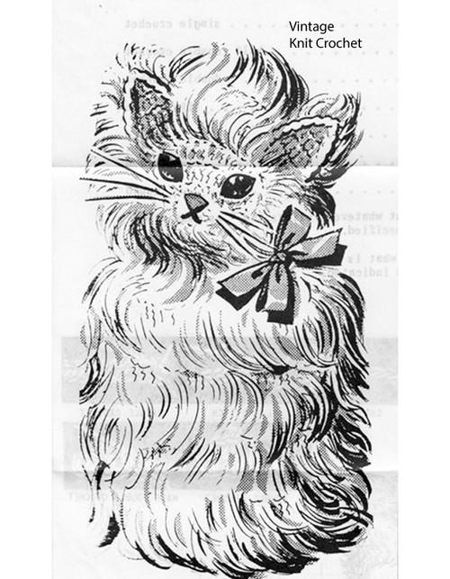 Crochet TP cover pattern, Kitten, Anne Cabot 5116