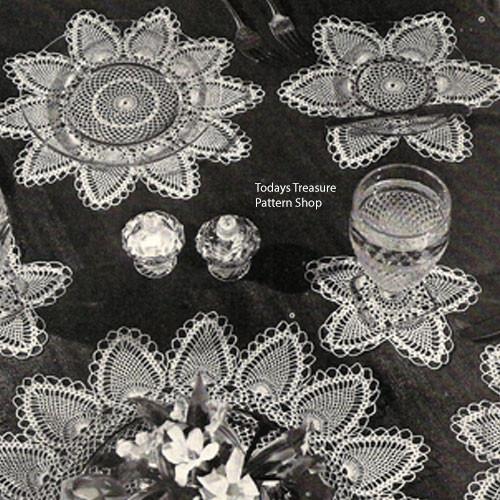 Crochet Pineapple Flower Luncheon Mat Pattern