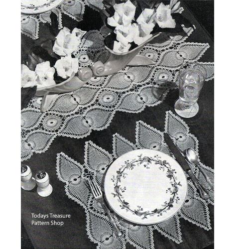 Crochet Pineapple Place Mats Runner Pattern