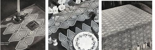 Crochet Pineapple Medallion Pattern for Tablecloth, Bedspread, Mats
