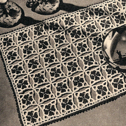Vintage Picot Crocheted Mats Pattern