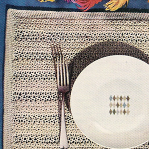 Crocheted Easy Place Mats Pattern