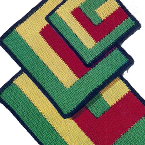 Colorful Crochet Potholders Mats Pattern