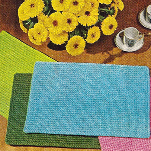 Free Colorful Crocheted Place Mats Pattern