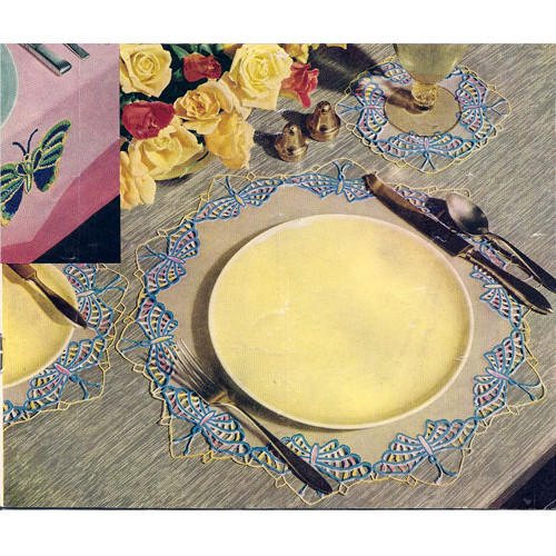 Crocheted Butterfly Luncheon Mats Pattern