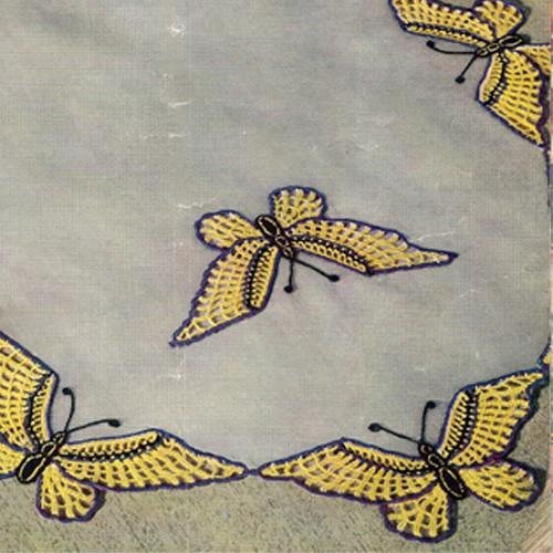 Vintage Butterfly Scarf Crochet Pattern