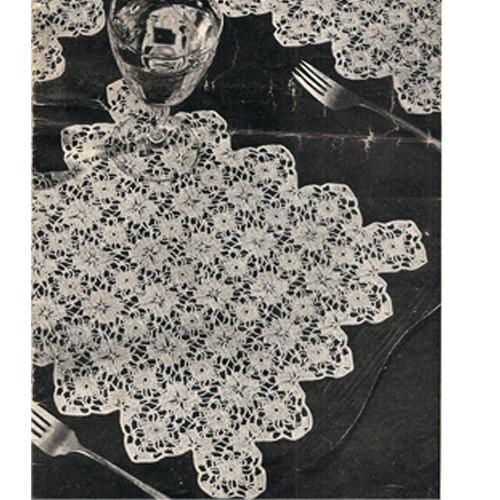 Vintage Flower Medallions Crochet Mats Pattern
