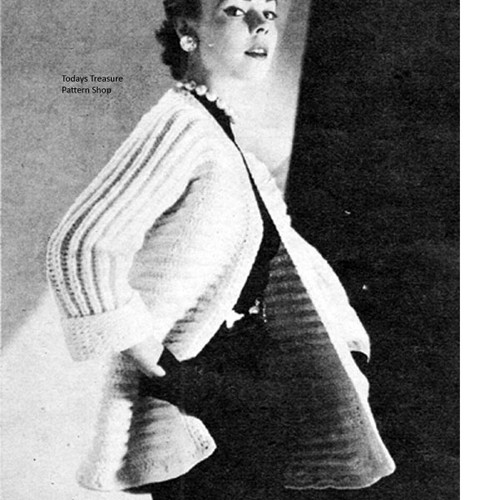 Ripple Coat Knitting pattern on Big Needles