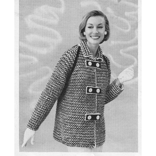 Double Breasted Car Coat Knitting Pattern