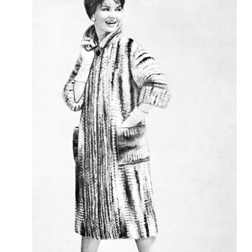 Knitted Mohair Coat Pattern