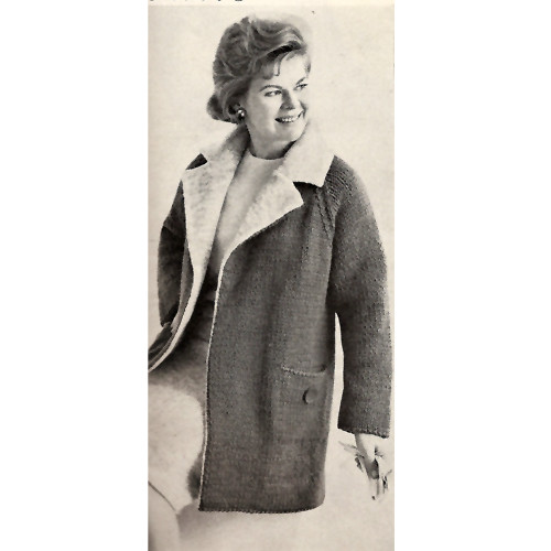 Casual Knitted Coat Pattern, Beacon Hill