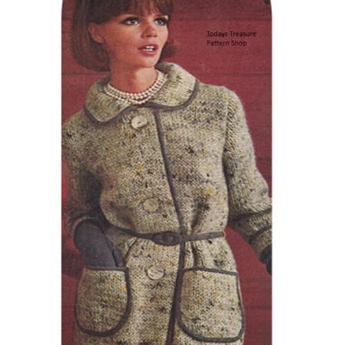 Vintage Tweed Coat Knitting Pattern