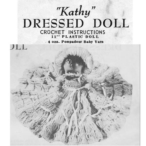 Crocheted Kathy Doll Dress Pattern