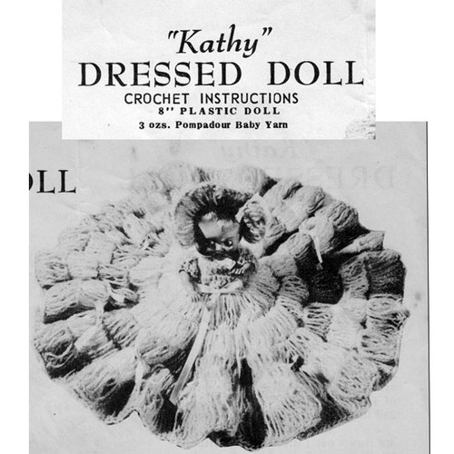 "Vintage 5"" Crochet Doll Dress Pattern"