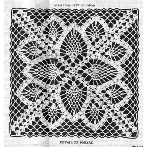 Crochet Pineapple Flower Square Pattern