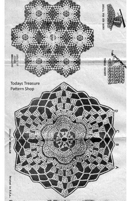 Flower Medallion Crochet Detail