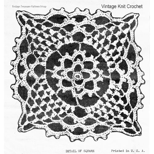 Crochet Pineapple Square in Puff Stitch