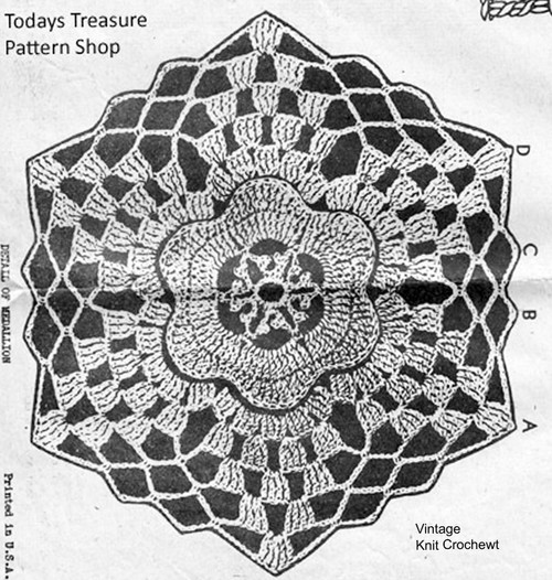 Crochet Flower Medallion Pattern, Laura Wheeler 647