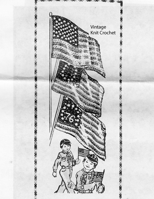 American Flags Crochet Pattern, Laura wheeler 952