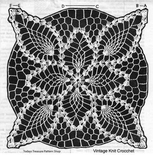 Large Pineapple Square Pattern Stitch Detail, Design 726