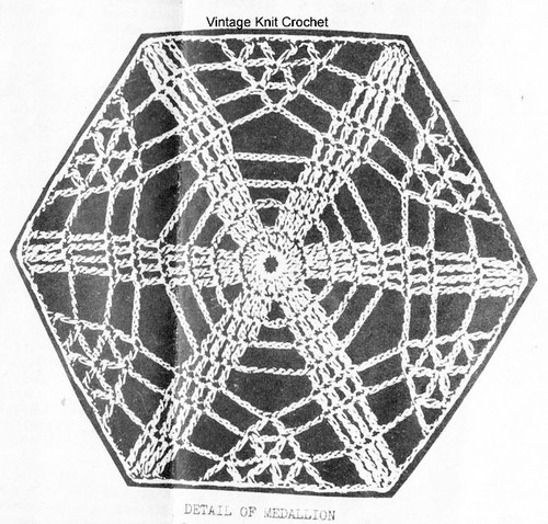 Cobweb Crochet Medallion Pattern Design 2870