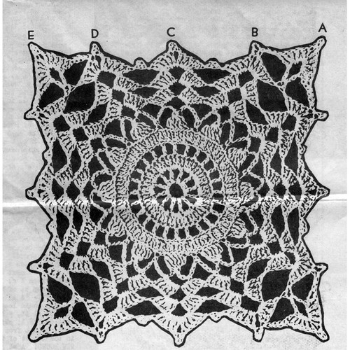Vintage Flower Medallion Crochet Pattern