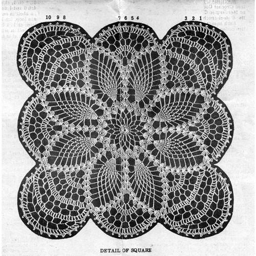 Pineapple Crochet Square Pattern