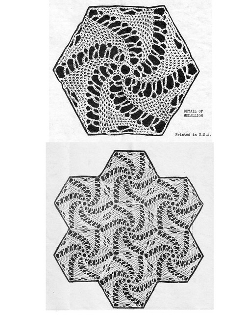 Crochet Pinwheel Medallion Pattern, Laura Wheeler 2714