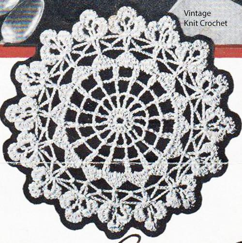 Large Clover Leaf Medallion Illustration, Leaflet 73-12-38