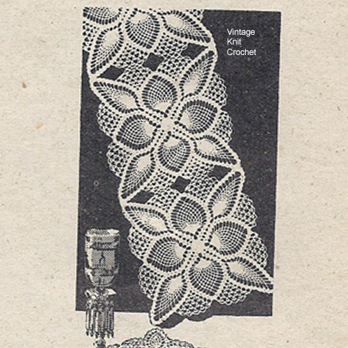 Vintage Pineapple Crochet Runner Pattern