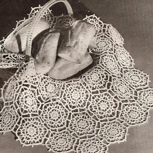 Small Hexagon Crochet Medallion, Winter Sky