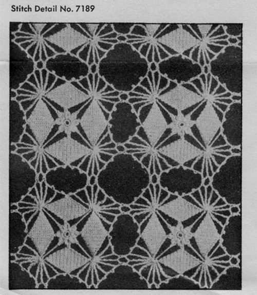 Vintage Crystal Web Crochet Medallions Pattern Illustration