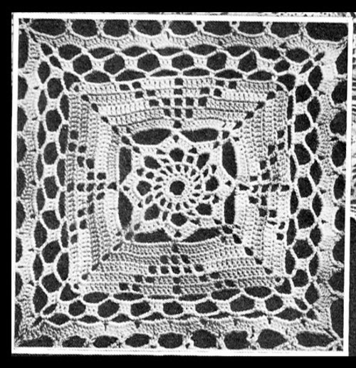 Easy Vintage Crochet Tablecloth Square Pattern