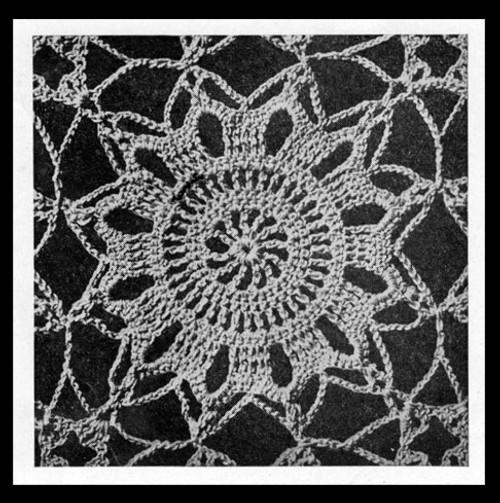Vintage Snowflake Medallion Pattern