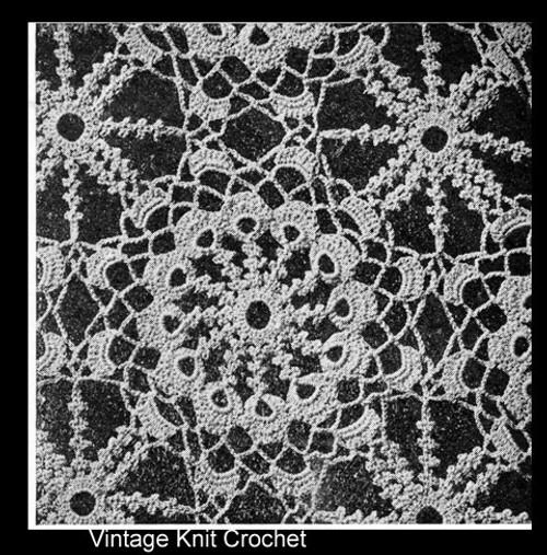Irish Rose Crochet Medallion Pattern