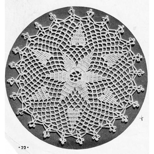 Round Star Crochet Medallion Pattern