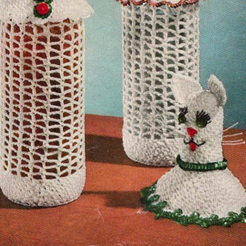 Cat Bottle Cover Crochet Pattern