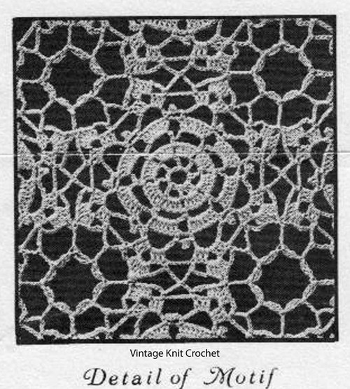 Crocheted Square measures 3 inches