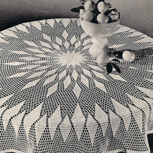 Vintage Diamond Round Cloth Crochet Pattern